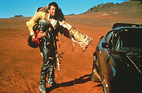 The Road Warrior (1981)<br /> (Mad Max 2)<br /> Mel Gibson &amp; David Downer<br /> *Filmstill - Editorial Use Only*<br /> CAP/KFS<br /> Image supplied by Capital Pictures