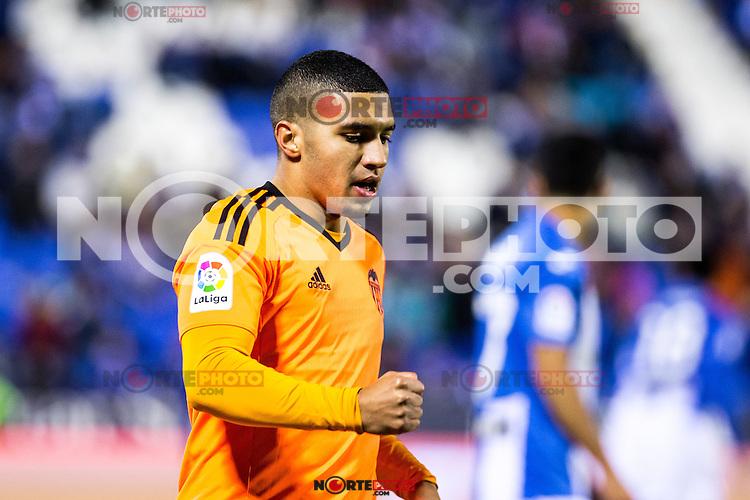 "Valencia's Zakaria Bakkali during the match of ""Copa del Rey"" between CD Leganes and Valencia CF at Butarque Stadium in Leganes, Spain. November 29, 2016. (ALTERPHOTOS/Rodrigo Jimenez) /NORTEPHOTO.COM"