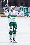 Stockholm 2014-03-01 Bandy SM-semifinal 1 Hammarby IF - V&auml;ster&aring;s SK :  <br /> V&auml;ster&aring;s Ted Bergstr&ouml;m har gjort 6-0 till V&auml;ster&aring;s och jublar mot tillresta V&auml;ster&aring;s supportrar<br /> (Foto: Kenta J&ouml;nsson) Nyckelord:  VSK Bajen HIF jubel gl&auml;dje lycka glad happy
