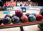 16 APR 2016:  A detailed view of bowling balls during the Division I Women's Bowling Championship held at the Brunswick Zone Carolier in North Brunswick, NJ.  Stephen F. Austin State won the national title.  Ben Solomon/NCAA Photos