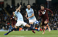 1899 Hoffenheim's Leonardo Bittencourt is tackled by Manchester City's Nicolas Otamendi<br /> <br /> Photographer Rich Linley/CameraSport<br /> <br /> UEFA Champions League Group F - Manchester City v TSG 1899 Hoffenheim - Wednesday 12th December 2018 - The Etihad - Manchester<br />  <br /> World Copyright © 2018 CameraSport. All rights reserved. 43 Linden Ave. Countesthorpe. Leicester. England. LE8 5PG - Tel: +44 (0) 116 277 4147 - admin@camerasport.com - www.camerasport.com