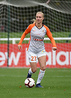 20181027 - CAMPHIN-EN-PEVELE , FRANCE : Montpellier's Sarah Puntigam pictured during the 8 th competition game between the women teams of Lille OSC and Montpellier Herault Sporting Club in the 2018-2019 season of the first Division - Ligue 1 at Domaine de Luchin , Saturday 27th Octobre 2018 ,  PHOTO Dirk Vuylsteke | Sportpix.Be
