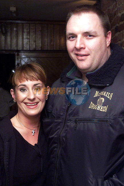 Nicola Gerrard and Martin Briscoe from Castle Manor at the Mozambique benefit night in McPhails..Picture Paul Mohan Newsfile