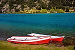 Canoes on the Rio Baker, Chilean Patagonia, Aysen del General Carlos Ibanez del Campo Region