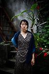 Tokyo, June 27 2012 -  Portrait of the Japanese photographer Rinko Kawauchi.