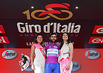 Fernando Gaviria (COL) Quick-Step Floors retains the points Maglia Ciclamino at the end of Stage 19 of the 100th edition of the Giro d'Italia 2017, running 191km from San Candido/Innichen to Piancavallo, Italy. 26th May 2017.<br /> Picture: LaPresse/Simone Spada | Cyclefile<br /> <br /> <br /> All photos usage must carry mandatory copyright credit (&copy; Cyclefile | LaPresse/Simone Spada)