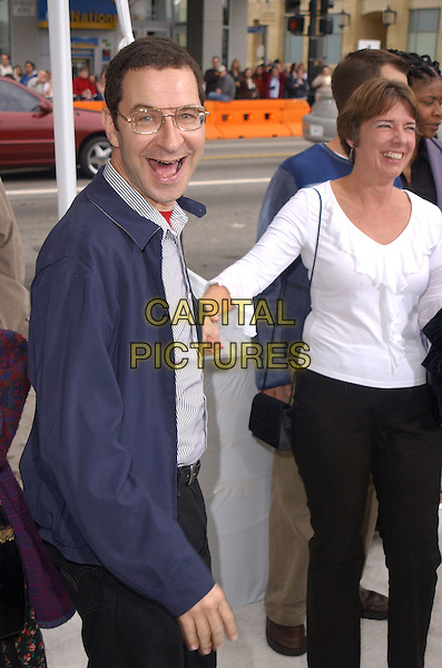 "EDDIE DEEZEN.The Warner Brothers' World Premiere of ""Polar Express"" held at The Graumann's Chinese Theatre in Hollywood, California on .November 7th, 2004.half length, blue jacket, holding hand, laughing, mouth open.www.capitalpictures.com.sales@capitalpictures.com.©Debbie Van Story/Capital Pictures"