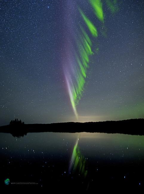 """Isle Royale """"Steve"""" aurora portrait northern lights"""