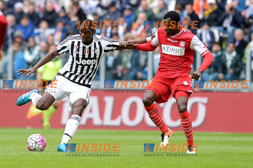 Paul Pogba Juventus, Isaac Cofie Carpi <br /> Torino 01-05-2016 Juventus Stadium Football Calcio Serie A 2015/2016 Juventus - Carpi. Foto Filippo Alfero / Insidefoto