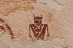 A Fremont Culture pictograph on a rock art panel Temple Mountain in the San Rafael Swell in central Utah.  The Fremont Culture inhabited this area from about 1,500 B.C. to about 1,300 A.D.