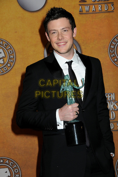13 July 2013 - Vancouver, British Colombia, Canada - Glee star Cory Monteith was found dead Saturday in his hotel room at the Fairmont Pacific Rim Hotel in Vancouver. He was 31. The cause of death was not immediately apparent. An autopsy was set for Monday. According to police, there were no indications of foul play. They would not discuss what, if anything, was found in room. File Photo: 23 January 2010 - Los Angeles, California - Cory Monteith. 16th Annual Screen Actors Guild Awards - Press Room held at The Shrine Auditorium. <br /> CAP/ADM/BP<br /> &copy;Byron Purvis/AdMedia/Capital Pictures