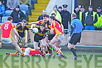 1David O'Leary, Dr. Crokes in action against Eoghan O'Reilly, in the All Ireland Senior Club Semi Final at Portlaoise on Saturday.