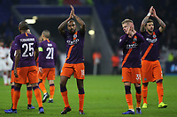 Manchester City players applaud their fans at the end of the match during Lyon vs Manchester City, UEFA Champions League Football at Groupama Stadium on 27th November 2018