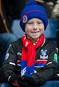 2nd December 2017, The Hawthorns, West Bromwich, England; EPL Premier League football, West Bromwich Albion versus Crystal Palace; A young Crystal Palace supporter dressed in team kit and hat in the stands before the match