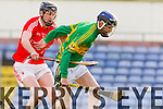 Mike Conway Lixnaw in action against Conor McEniry Bruff in the Munster Club Intermediate Hurling Championship Semi Final at Austin STacj Park on Sunday.