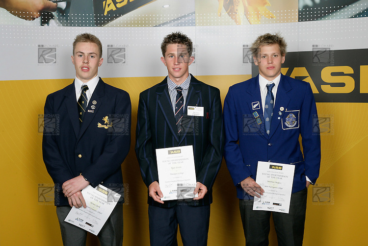 Triathlon Boys Finalists. ASB College Sport Young Sportsperson of the Year Awards 2006, held at Eden Park on Thursday 16th of November 2006.<br />