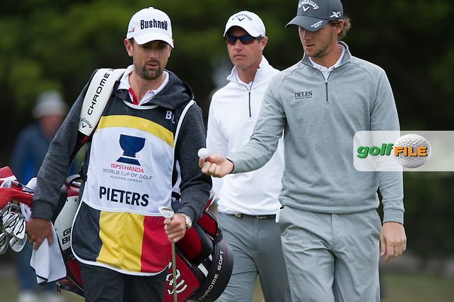 Thomas Pieters (BEL) during round 1 at the ISPS Handa World Cup of Golf, from Kingston heath Golf Club, Melbourne Australia. 24/11/2016<br /> Picture: Golffile   Anthony Powter<br /> <br /> <br /> All photo usage must carry mandatory copyright credit (&copy; Golffile   Anthony Powter)