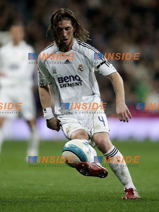 Real Madrid's Sergio Ramos during the Spanish League match between Real Madrid and Real Betis at Santiago Bernabeu Stadium  in Madrid, Saturday February 17 2007. (INSIDE/ALTERPHOTOS/B.echavarri).