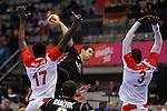 Jallouz, Milasevic & Hedoui. TUNISIA vs MONTENEGRO: 27-25 - Preliminary Round - Group A