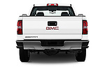 Straight rear view of a 2017 GMC Sierra 3500HD Double 4WD Cab Long Box 4 Door Pick Up stock images