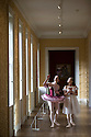 04/11/16<br /> <br /> Commission Mcc0073519 Assigned<br /> <br /> L/R: Alice Rathbone (23) and Daisy Edwards (19) look around the house with a model of the Nutcracker Prince.<br /> <br /> Ballerinas pose for photographs in the Painted Hall at Chatsworth House to mark the start of the stately home's Christmas themed  &lsquo;The Nutcracker&rsquo;. Join Clara's adventures as she is swept away by her Nutcracker Prince until Jan 3 2017.<br /> <br /> All Rights Reserved F Stop Press Ltd. (0)1773 550665   www.fstoppress.com