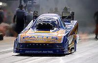 Sept. 14, 2012; Concord, NC, USA: NHRA funny car driver Bob Tasca III during qualifying for the O'Reilly Auto Parts Nationals at zMax Dragway. Mandatory Credit: Mark J. Rebilas-