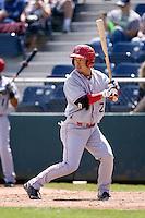 Spokane Indians' Hirotoshi Onaka #2 at bat during a game against the Everett AquaSox at Everett Memorial Stadium on June 24, 2012 in Everett, WA.  Spokane defeated Everett 11-2.  (Ronnie Allen/Four Seam Images)
