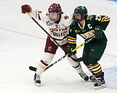 Erin Connolly (BC - 15), Taylor Willard (UVM - 27) -  The Boston College Eagles defeated the University of Vermont Catamounts 4-3 in double overtime in their Hockey East semi-final on Saturday, March 4, 2017, at Walter Brown Arena in Boston, Massachusetts.
