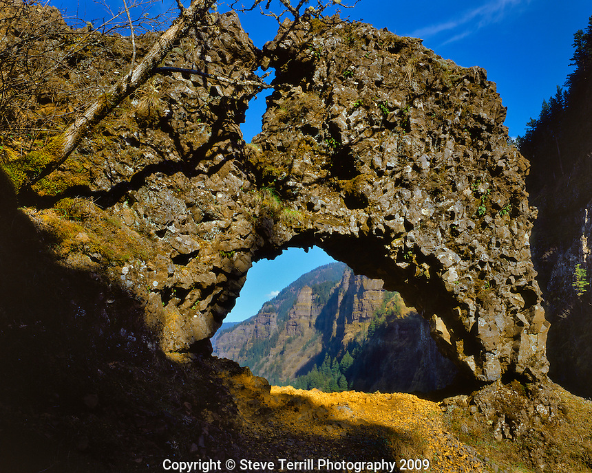 Rock of Ages  Arch in Columbia River Gorge National Scenic Area, Oregon