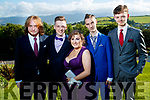 Attending Causeway Comprehensive School Debs, at Ballyroe Heights Hotel, Tralee, on Wednesday, August 9th last, were l-r: Sean Williams, Matt Tyrkiel, Ciara Shannon, Chris O'Donoghue and Dean Kennelly.