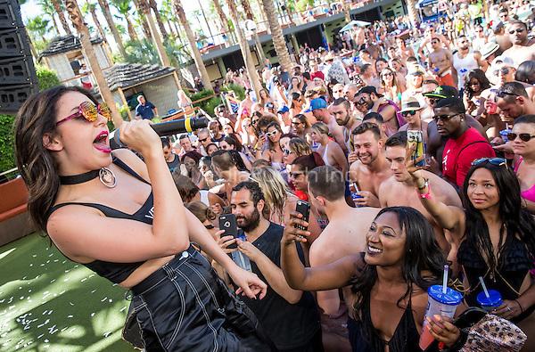 LAS VEGAS, NV - September 20: ***HOUSE COVERAGE*** Charli XCX at Rehab Pool Party at Hard Rock Hotel & Casino in Las Vegas, NV on September 20, 2015. Credit: Erik Kabik Photography/ MediaPunch