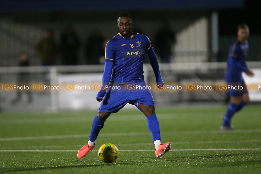 Sean Bonnett-Johnson of Romford during Romford vs Brentwood Town, BetVictor League North Division Football at Parkside on 11th February 2020