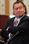 Yoshiro Mori, April 3, 2014 : 1st IOC project Review was held at Shinagawa Prince Hotel in Tokyo, Japan. (Photo by AFLO SPORT)