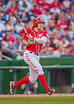 19 September 2015: Washington Nationals outfielder Matt den Dekker in action against the Miami Marlins at Nationals Park in Washington, DC. The Nationals defeated the Marlins 5-2 in the third game of their 4-game series. Mandatory Credit: Ed Wolfstein Photo *** RAW (NEF) Image File Available ***