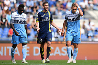 Felipe Caicedo and Ciro Immobile of Lazio look dejected during the Serie A 2018/2019 football match between SS Lazio and AC Chievo Verona at stadio Olimpico, Roma, April, 20, 2019 <br /> Photo Antonietta Baldassarre / Insidefoto