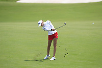 Nelly Korda (USA) in action on the 9th during Round 3 of the HSBC Womens Champions 2018 at Sentosa Golf Club on the Saturday 3rd March 2018.<br /> Picture:  Thos Caffrey / www.golffile.ie<br /> <br /> All photo usage must carry mandatory copyright credit (&copy; Golffile   Thos Caffrey)