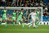 30th October 2019; Estadio Santiago Bernabeu, Madrid, Spain; La Liga Football, Real Madrid versus Leganes; Luka Modric (Real Madrid)  rans away from the marker on the ball - Editorial Use