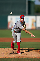 Clearwater Threshers pitcher Kyle Glogoski (16) during a Florida State League game against the Palm Beach Cardinals on August 10, 2019 at Roger Dean Chevrolet Stadium in Jupiter, Florida.  Clearwater defeated Palm Beach 11-4.  (Mike Janes/Four Seam Images)