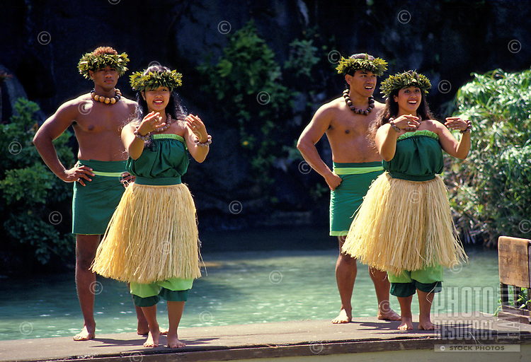 Dancers perform at the Polynesian Cultural Center, North Shore of Oahu.