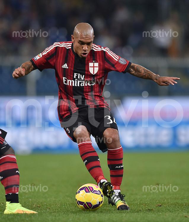 FUSSBALL INTERNATIONAL   SERIE A   SAISON  2014/2015   11. Spieltag Sampdoria Genua - AC Mailand                     08.11.2014 Nigel De Jong (AC Mailand) am Ball