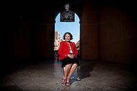 Anita Garibaldi, pronipote dell'Eroe dei due mondi Giuseppe Garibaldi, fotografata a Marsala in provincia di Trapani in occasione del 150° anniversario dello Sbarco dei Mille.  Da sempre Anita Garibaldi si occupa di cultura e divulgazione della storia del Risorgimento sia in l'Italia che per l'Unione Europea.