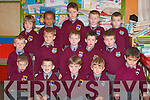 Infants at Scoil Railta Na Madine, Listowel on Monday.  Front l-r Christopher McQuid, David Loughnane, Jared Tritschler, Matas balfys, and James O'Connor.  Middle l-r Danny Keane, Lu kasz Nowak, Dounnacha Nolan, Jack Murphy, and Jack Lane.  Back l-r Conor McCarthy, Jamie Roche, Dylan Quinn and Dylan Lynch..   Copyright Kerry's Eye 2008