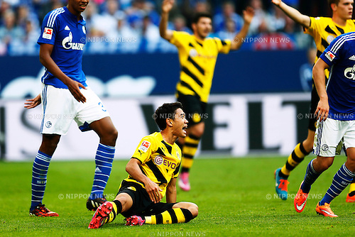 Shinji Kagawa (Dortmund), SEPTEMBER 27, 2014 - Football / Soccer : Bundesliga match between FC Schalke 04 2-1 Borussia Dortmund at Veltins Arena in Gelsenkirchen, Germany. (Photo by D.Nakashima/AFLO)