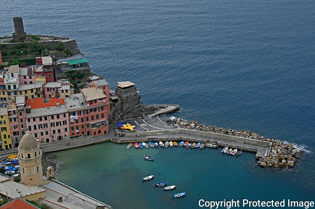 Town of Vernazza Cinque Terre Italy