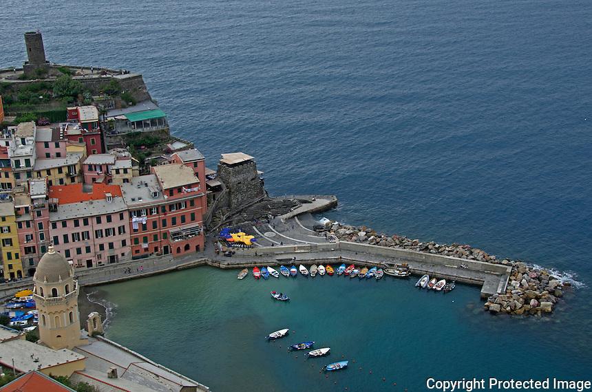 Town of Vernazza Cinque Terre Italy