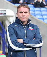 Bolton Wanderer's Manager Phil Parkinson<br /> <br /> Photographer Rachel Holborn/CameraSport<br /> <br /> The EFL Sky Bet Championship - Bolton Wanderers v Middlesbrough - Saturday 9th September 2017 - Macron Stadium - Bolton<br /> <br /> World Copyright &copy; 2017 CameraSport. All rights reserved. 43 Linden Ave. Countesthorpe. Leicester. England. LE8 5PG - Tel: +44 (0) 116 277 4147 - admin@camerasport.com - www.camerasport.com