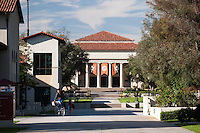 Occidental College view of Thorne Hall as seen across the JSC Quad, October 27, 2010, Los Angeles. (Photo by Marc Campos, College Photographer)
