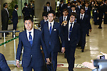 Japan team group (JPN), JUNE 27, 2014 - Football / Soccer : Japanese national soccer team are seen upon arrival back from the World Cup 2014 Brazil at Narita International Airport in Narita on Friday, June 27, 2014. (Photo by AFLO SPORT) [1205]