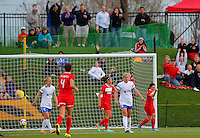 BOYDS, MD - April 19 2014: Diana Matheson after scoring for the Washington Spirit v FC Kansas City in a NWSL match at Maryland Sportsplex, in Boyds, Maryland.<br /> Spirit won 3-1.