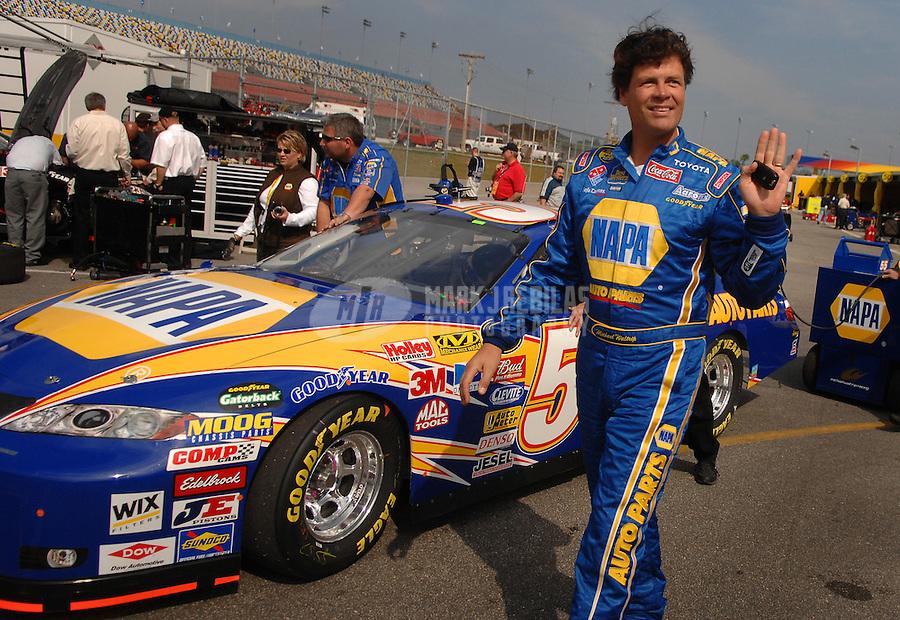 Feb 11, 2007; Daytona, FL, USA; Nascar Nextel Cup driver Michael Waltrip (55) during qualifying for the Daytona 500 at Daytona International Speedway. Mandatory Credit: Mark J. Rebilas